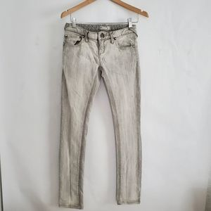 Free People Low Rise Light Grey Skinny Jeans